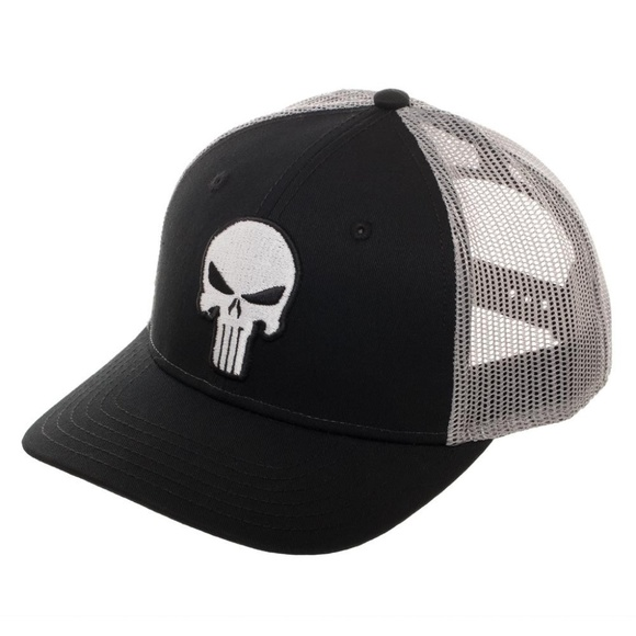 Punisher Trucker Style Hat Snapback Marvel Skull 34c17ade403